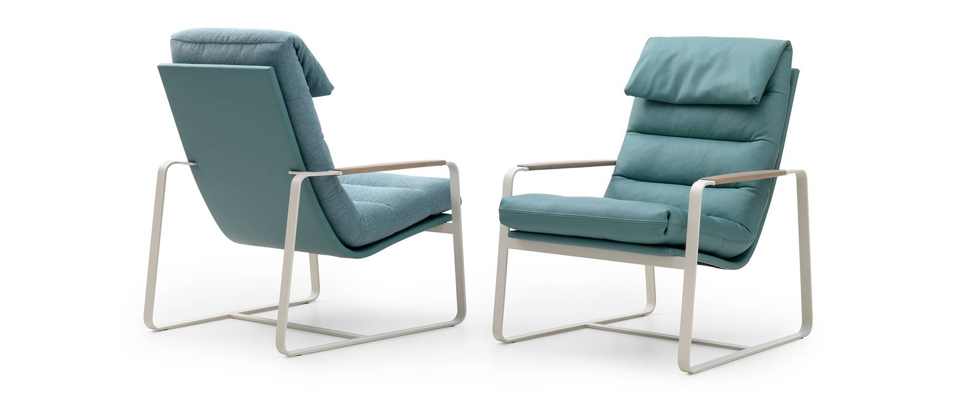 design armchair indra by leolux